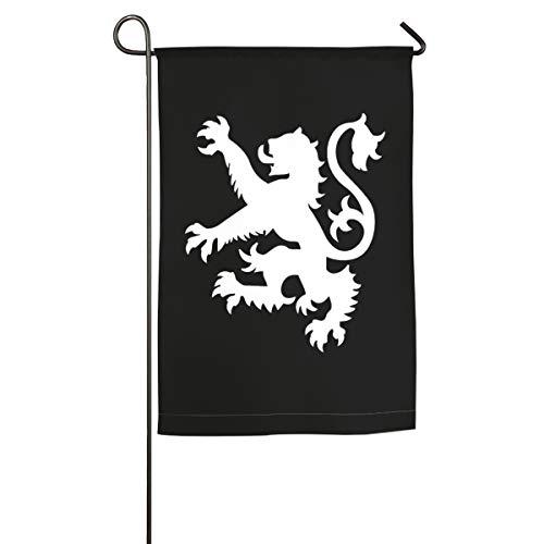(UDSNIS Scottish Flag Lion Logo Personalized Garden Flag 12 X 18 Inch Size Banner for Yard Decor)