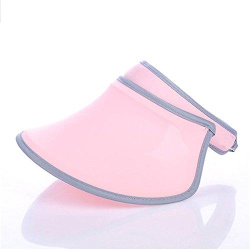Golf Top Hat (Summer Fashion Women Visor Empty Top Adjustable Anti-UV Sunscreen Cap Beach Travel Hats (Pink))
