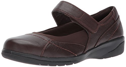Clarks Women's Cheyn Web Mary Jane Flat, Java Tumbled, 5 M US