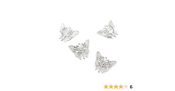 Butterfly Charm Antique Silver Bulk Animal Necklace Bracelet Keychain Charm Lot sc736 Wholesale Tiny Butterfly Pendant