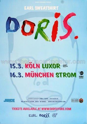 Earl Sweatshirt - Doris 2014 - Concert Poster