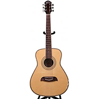 Left Hand Oscar Schmidt 1/2 Size Acoustic Guitar, Natural, Lefty, OGHSLH