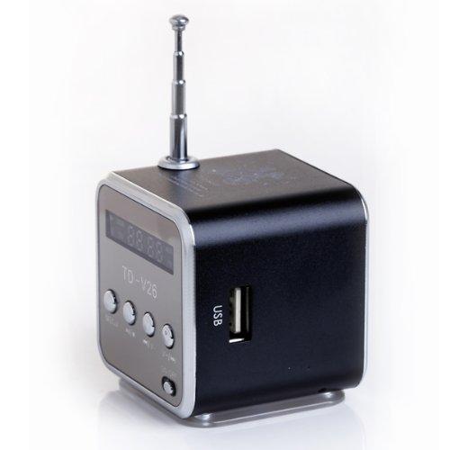 TD TD-V26-Ba Portable Mini Digital Speaker with Micro (Black)