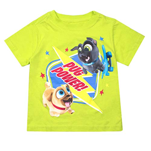 Puppy Dog Pals Disney's T-Shirt Tee - Featuring Bingo, Rolly, Bob, Hissy and A.R.F (Green, - Pals Christmas