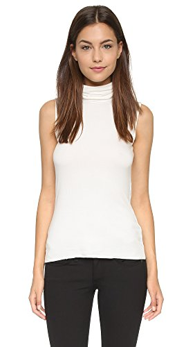 Bailey 44 Women's Tippi Sleeveless Turtleneck Top, Chalk, - Lined Sleeveless Jersey