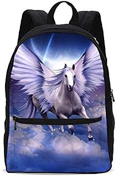 Horse Flying Full Moon Backpack Bookbags Daypack Kids Girls Boys Backpacks Laptop Bags School Purse Travel Sports Water Resistant Men Women