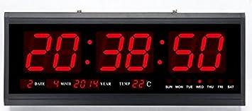 Gowe Alu Legierung Fall LED Digital Kalender mit 7 -6 cm Große Zahl Display