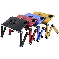 Soğutuculu Portatif Alüminyum Laptop Sehpası-Notebook Masası (Gri)