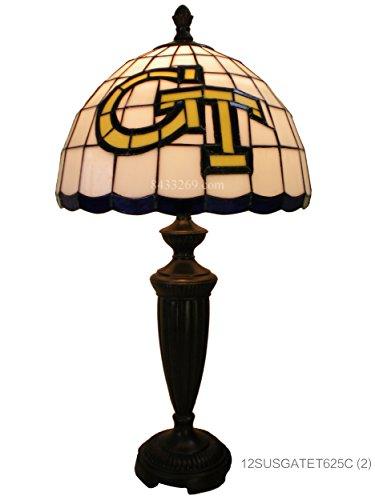 TiffanyFactory 12SUSGATET625C NCAA Georgia Tech Jackets Stained Glass Table Lamp