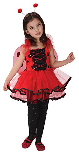 Brcus Girls Ladybug Wings Halloween Costumes Children's Role Play Cosplay Dress Up (Large) Red]()