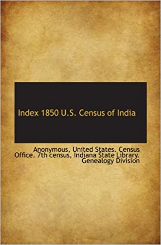 Laden Sie Amazon E-Books herunter Index 1850 U.S. Census of India PDF RTF DJVU