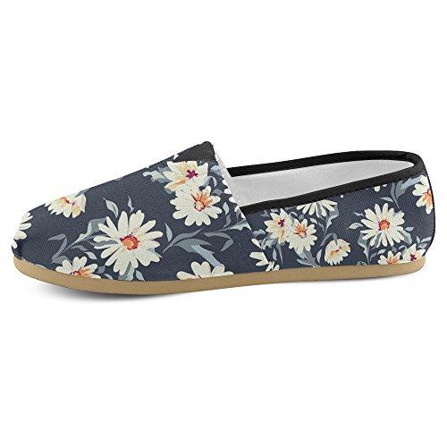 Interestprint Femmes Mocassins Classique Casual Toile Glisser Sur La Mode Chaussures Sneakers Mary Jane Appartements Marguerite Floral