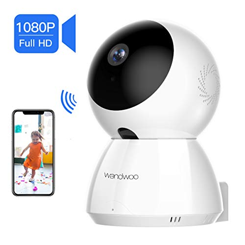 [2019 New] IP Security Camera, Wandwoo 1080P Wireless Security Camera with Night Vision Two-Way Audio PTZ Control Home Camera White for Baby Monitor Pet Camera Nanny Camera