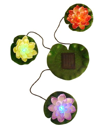Beckett Corporation Solar Lily Lights for Pond