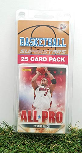 (Miami Heat- (25) Card Pack NBA Basketball Different Heat Superstars Starter Kit! Comes in Souvenir Case! Great Mix of Modern & Vintage Players for the Ultimate Heat Fan! By 3bros)