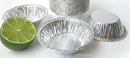 KitchenDance 3'' Disposable Aluminum Tart Pans/Mini Pie Pans #301- Pack Of 100 by KitchenDance (Image #7)