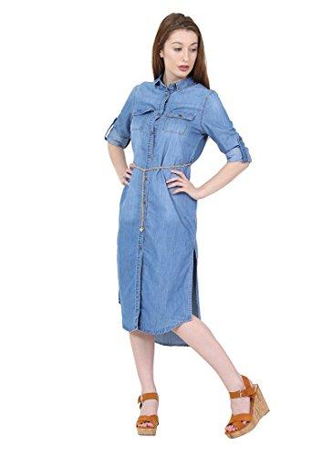 Frauen Cindy Gemma Sommerkleid Kleid H Damen Jeanskleid Jeans qrfwtCr