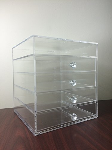 Beauti Cube 4 Drawer Plus 1 Lid Acrylic Make Up Organizer Case … by Beauti Cosmetics