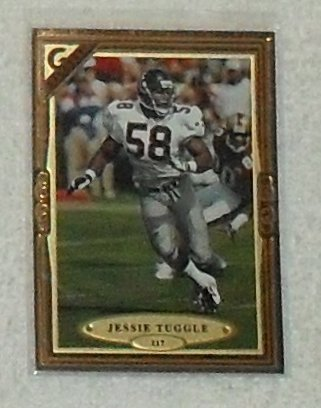 (Jessie Tuggle 1997 Topps Gallery NFL Football Card # 117)
