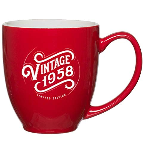 1958 60th Birthday Gifts for Women Men Red