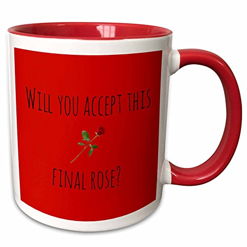 3dRose 172467_5 Will You Accept This Final, Picture of Rose, Black Lettering Ceramic Mug, 11oz, -