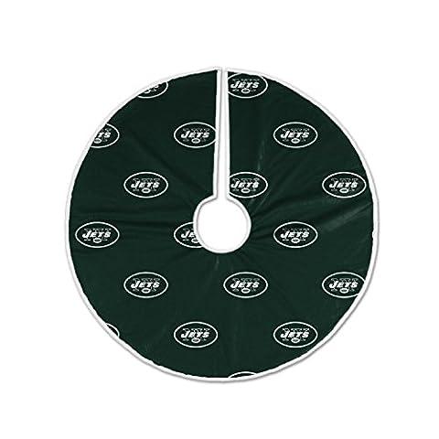 NFL New York Jets Christmas Tree Skirt - Santa Nfl New York Jets