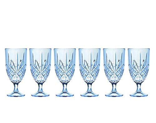 Godinger 25390 Dublin Blush Turquoise Iced Tea Glass - Set of 6 ()