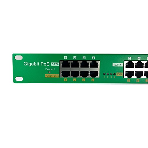 WT-AT-16 802.3at on-Demand Gigabit 16 Port Power over Ethernet Injector for PoE Cameras, IP Phones, WiFi Access Points (power supplies sold separately) by WiFi-Texas (Image #1)