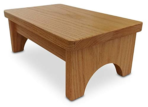 Oak Step Stool - HollandCraft - The Perfect Wood Step Stool - Handcrafted - Made in USA - Hidden Wood Dowels (No Screws, Staples or Nails)