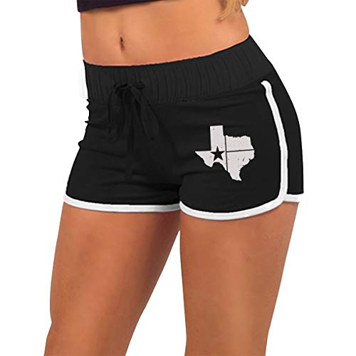 Low Waist Shorts Distressed White Texas State Flag Running Hot Pants ()