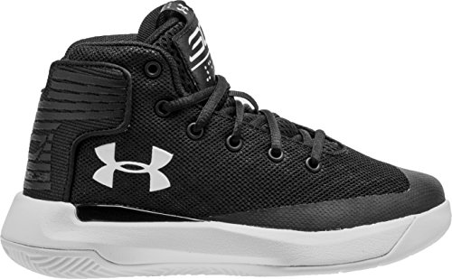 001 Shoes (Under Armour 1295999-001 : Kids Curry 3Zero Sneaker Black/White (1.5 Little Kid M))