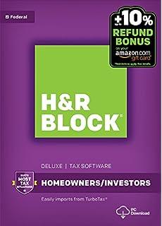 Amazon.com: H&R Block Tax Software Deluxe + State 2016 Win + ...