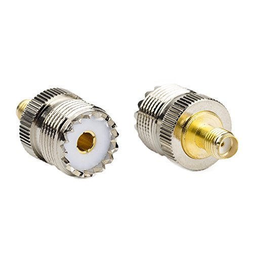 2 Eagle Base (SMA Female to UHF Female SO-239 SO239 Connector Eagles (TM) (Pack of 2) RF Coaxial Coax Adapter - for Baofeng UV5R and GT3-TP Radios PL259 to Base Station Antenna)