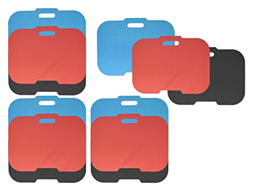 Black Duck Brand Set of 12 Thick Kneeling Pads - 15.25'' x 11.5'' x .375'' - Stadium Seat & Garden Kneeler for Gardening, Bath Kneeler for Baby Bath, Kneeling Mat for Exercise & Yoga by Black Duck Brand