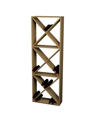 - Wine Cellar Innovations Rustic Pine Solid Diamond Cube Wine Rack for 132 Wine Bottles, Light Stained