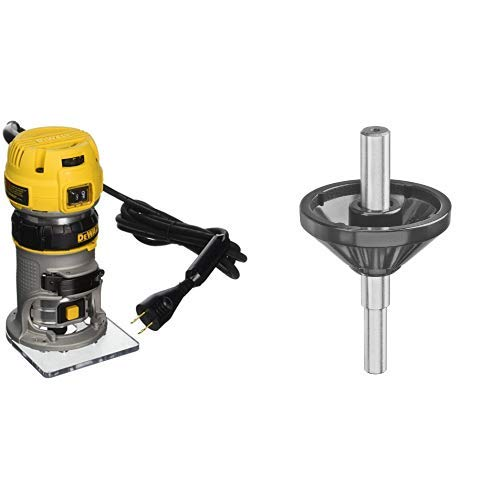 Centering Cone - DEWALT DWP611 1.25 HP Max Torque Variable Speed Compact Router with Dual LEDs with DNP617 Centering Cone for Fixed Base Compact Router
