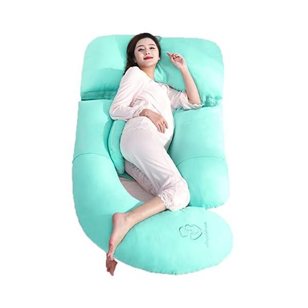 PharMeDoc Pregnancy Pillow with Jersey Cover Almohada De Cuerpo Completo En Forma De U U Shaped Full Body Pillow PharMeDoc Almohada De Embarazo Con Cubierta De Jersey