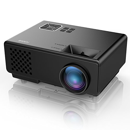 Projector, FUNAVO RD-815 LED Mini Video Projector for Multimedia Home Theater, Supports 1080P, Laptops, Smartphones, Amazon Fire TV Stick & DVDs via HDMI, USB, VGA & AV (Black) by FUNAVO