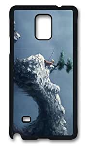 MOKSHOP Adorable fishing asian art Hard Case Protective Shell Cell Phone Cover For Samsung Galaxy Note 4 - PCB