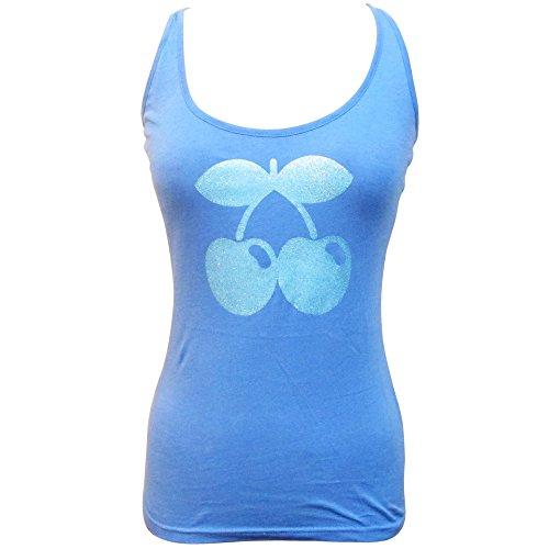 Pacha: Camiseta sin mangas con Logo Tono Cereza Purpurina Azul