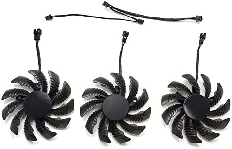 inRobert PLD08010S12H 75mm 3pin Video Card Fan Replacement for Gigabyte GEFORCE GTX 970 Cooling Fan