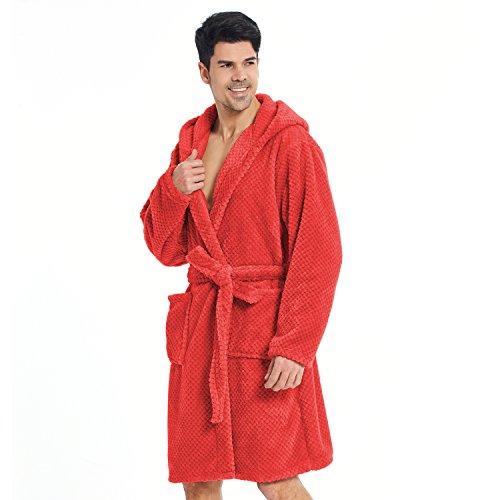 Polaire Sleepyhead À Capuchon Robe De Peignoir Decoking fibre Micro S Moelleuse Court Homme Rouge Cappuccino Douillette Chambre Unisexe Femme ZWTwqY1