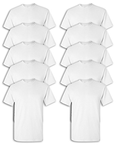 Gildan mens Heavy Cotton 5.3 oz. T-Shirt(G500)-WHITE-L-10PK