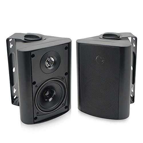 Herdio 4 Inches Outdoor Indoor Patio Bluetooth Wall Mount Speakers