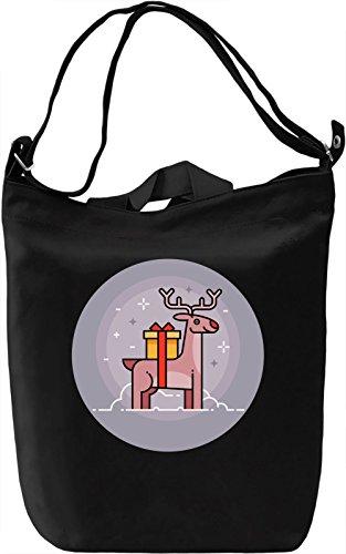 Christmas Deer Borsa Giornaliera Canvas Canvas Day Bag| 100% Premium Cotton Canvas| DTG Printing|