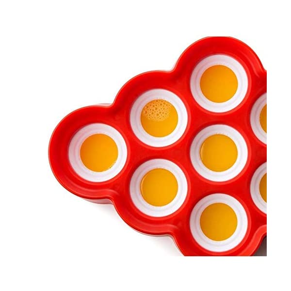 Depory Stampi per ghiaccioli - Estate DIY Popsicle Stampi con Coperchio, stampi per ghiaccioli in plastica, Non tossico… 3 spesavip