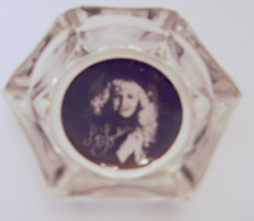 (Collectible Vintage Country Western Singer Liz Lyndell Promotional Memorabilia Ashtray Hexagonal Shaped 3.75 Inches Tall)