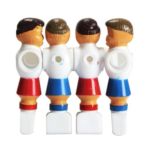 Rod Soccer (Tenflyer Pack of 4 Rod Foosball Soccer Table Football Men Player Replacement)