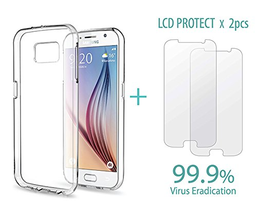 Galaxy S6 Case I-Remember Air Cushion Case with LCD Protection anti virus screen protector