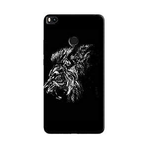 Cover It Up - Lion Profile BW Mi Max 2 Hard Case